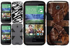 For HTC Desire 510 IMPACT TUFF HYBRID Protector Case Skin Phone Cover Accessory