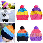 Cute Colors Baby Children Kids Girls Boys Stretchy Warm Winter Cap Hat Beanie