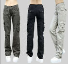 Casual Womens Military Army Fashion Cargo Pocket Pants Leisure Trousers Outdoor