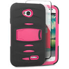 For LG Optimus Exceed 2 VS450 Hard Gel RUGGED Rubber Kickstand Case Phone Cover