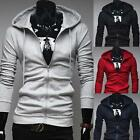 Fashion Korean Mens Zipper Hooded Sweatshirts Cardigan Coats Jacket 5 Colors F19
