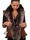 Pasegnia Whisky Nappa Finish Ladies Real Toscana Sheepskin Gilet Waistcoat