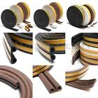 5m E/d/p Door Window Draft/draught Self Adhesive Foam Seal Strip Rubber Roll