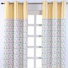 Polka Dots Ready Made Eyelet Curtain Multi Coloured Children Designer Curtains