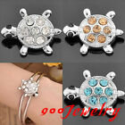 1piece Click Snap On Crystal Turtle Metal Button Fit Style Bracelet