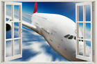 Air Plane New 3D Sea AIRPLANE View Window Art Mural Living Room Wall Sticker KID