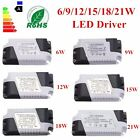 LED Lamp Driver Transformer Power Supply 6/9/12/15/18/21W Dimmable Driver Bulbs