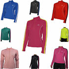 More Mile Hi-Viz Half-Zip Frauen Damen Langarm-Lauf Radfahren Gym Top