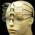 2 pair lot reading glasses clear lens power spring hinge temple metal power mm26