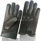 Mens Driving Gloves Real Leather Top Quality Unlined Comfort 508 Slim Fit Black