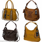 Designer Handbag Shoulder Bag Faux Leather Large Tote Satchel Orange Tan Brown