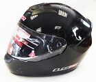 LS2 FF352 FULL FACE MOTORCYCLE MOTORBIKE HELMET GLOSS BLACK PLAIN ROOKIE