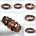 """15mm Red black Dream agate beads stretchable bracelet 7.5"""" Each pictured"""