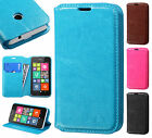 For Nokia Lumia 530 Premium Leather Wallet Case Pouch Flap STAND Phone Cover
