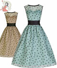 LINDY BOP 50's CINDY vintage style POLKA DOT cocktail prom DRESS