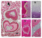 ZTE Grand X Max Crystal Diamond BLING Protector Hard Case Phone Cover Accessory