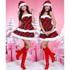 Sexy Santa Elf Gnome  8 10 12 One Size Xmas Fancy Dress Costume Xt9731 Tartan