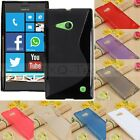 S Line Wave Slim Soft TPU Gel Silicone Case Cover Skin For Nokia Lumia 730 735