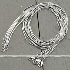 5pc Lot Silvery Metal White Gold Plated Snake Link Chain Necklace Jewelry Gift