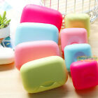 Soap Holder Container Storage Box Bath Toilet Travel Accessory with Locking Lid