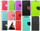 For Motorola Droid Turbo Premium Leather 2 Tone Wallet Case Pouch Flip Cover