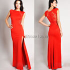 XMAS Womens Sexy Lace Bodycon Long Maxi Split Evening Ball Cocktail Prom Dress