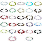 Gemstone Bead Multi-Color Sparkle-jewelry lobster Clasp Stainless Steel Bracelet