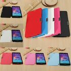 PU Leather+Hard PC Plain Magnetic Flip Case Cover Skin for Samsung Galaxy Note 4