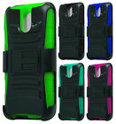 For Sprint HTC One E8 Hybrid Combo Holster KICKSTAND Rubber Case Phone Cover