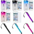 3D Clear Rain Drop Crystal Hard Case+Stylus+Anti Glare SP For ipod touch 5 6 6th