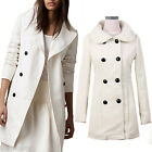 Elegant outerwear Ladies overcoat Winter Jacket Double Trench Coat sz 12 10 8 6