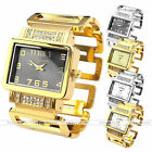 Fashion Women Lady Luxury Gold Silver Crystal Bracelet Bangle Quartz Wrist Watch
