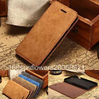 Luxury Retro Cowhide PU Leather Stand Wallet Card Cover Case For Iphone 5 5s