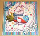 Handmade Greeting Card 3D Easter With A Bunny