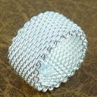 New Fashion Women's 925 Sterling Silver Net Ring Size 6/7/8/9 Party Jewelry Gift