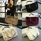 Fashion Autumn Winter Women Handbag Faux Fur Tote Shoppers Satchel Shoulder Bag
