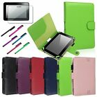 Passport PU Leather Stand Case Cover+Screen Protector+Pen for Kindle Fire HD 7