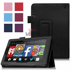 PU Leather Folio Folding Stand Case Flip Cover for Kindle Fire HD 7 (2014) New