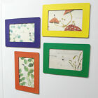"""Coloured Magnetic Fridge Magnet 6"""" x 4"""" Photo Frame Home Decor For 5"""" 6"""" Picture"""