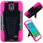 Alcatel ONETOUCH Pop Star LTE Advanced Layer HYBRID KICKSTAND Rubber Case Cover