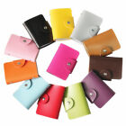 Women's Candy Colors Cute Synthetic PU Leather Mini Small Card ID Holders