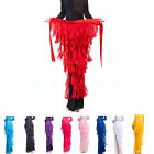 Belly Dance Waistband Costume 12 Colors Hip Scarf Belt Wave Tassel Waist Chain