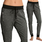 TheMogan Marled Colorblock Fleece Jogger Sweat Pants
