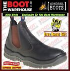Mongrel 240030 Work Boots. Steel Toe Safety, Tan, Elastic Sided,  FULLY LINED!