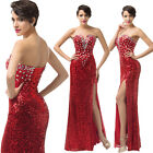 Sparkly Sexy Sequins Long Mermaid Wedding Evening Gown Formal Party Prom Dresses