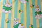 100% cotton Children Baby Nursery ABC stripes bunnies print fabric