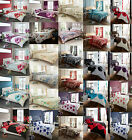 Duvet Cover with Pillow Case Quilt Cover Bedding Set Single Double All Sizes