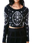JAWBREAKER TAROT ROCKABILLY CROP TATTOO ILLUMINATI BLOUSE SHIRT FISHNET TPA1658