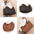 Men's Black CLEARENCE Leather Business Briefcases Winter Messenger Shoulder Bag