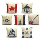 Home Decor Simple Throw Pillow Case Square Pillow linen Car Back Cushion Cover